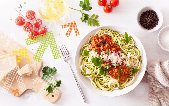 Zoodles mit Bolognese