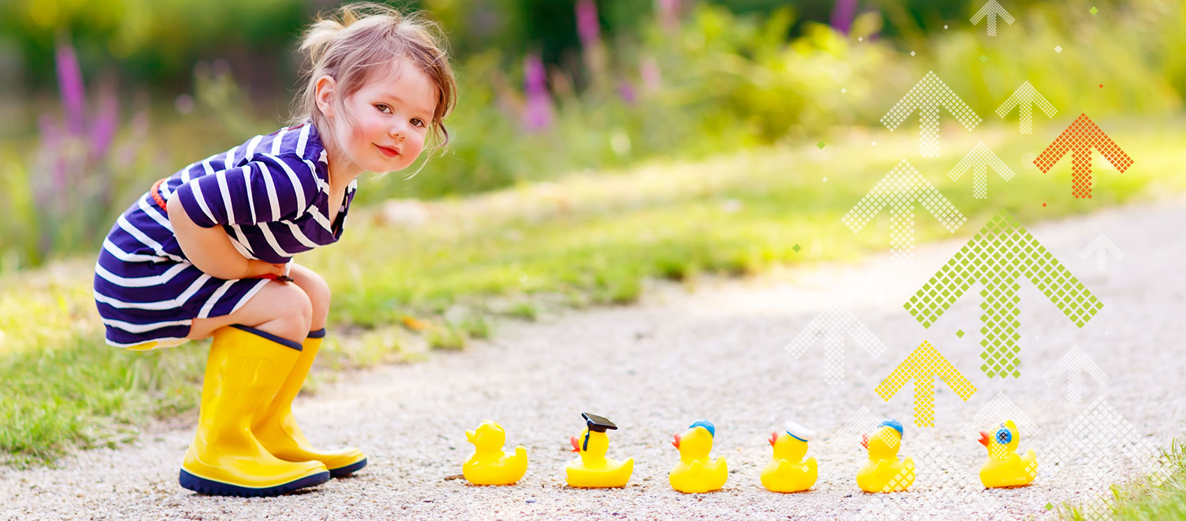 Thurgau bewegt Mädchen mit Quietschenten