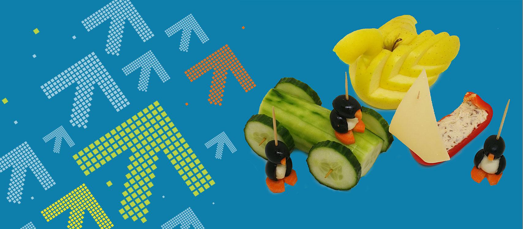 Früchte und Gemüse schnitzen