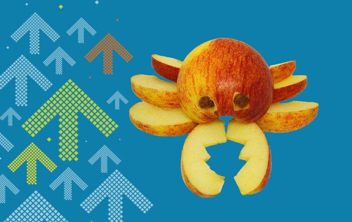 Apfel schnitzen Krebsfigur