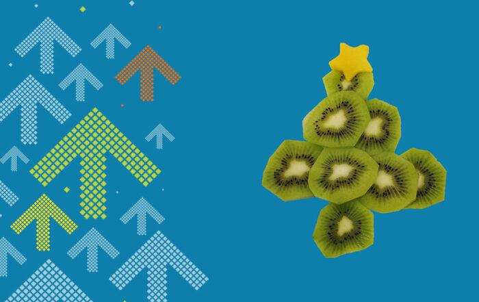 Weihnachtsbaum aus Kiwi