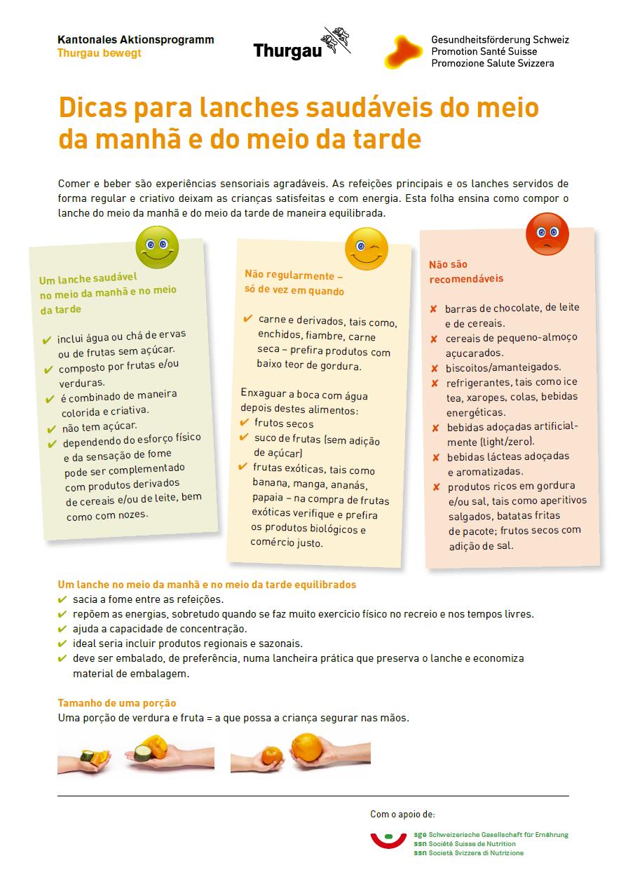 Znüniflyer portugiesisch vorne