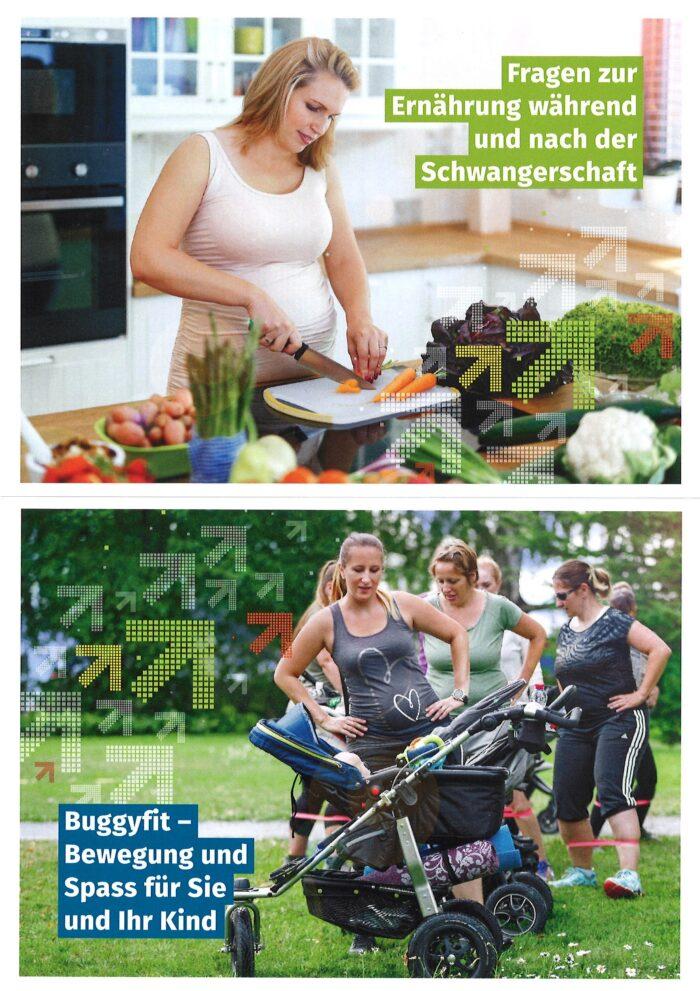Flyer Buggyfit und Ernährungsberatung Schwangerschaft